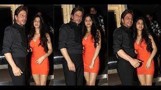 Shahrukh Khan with daughter Suhana Khan at Gauri Khan Party Last Night