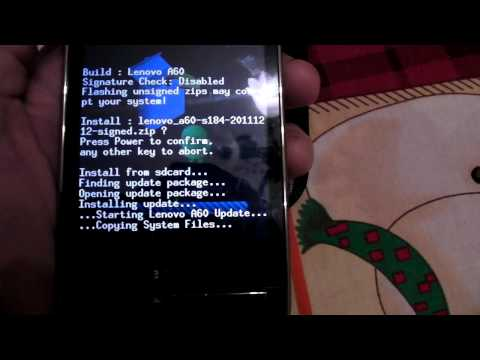 Lenovo A60 - Android 2.3.5(recovery mode)