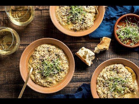 Vegan Quinoa Mushroom Risotto