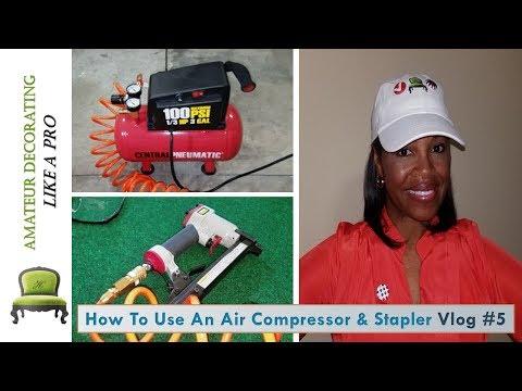 Central Pneumatic Air Compressor & Stapler - Easy Instructions