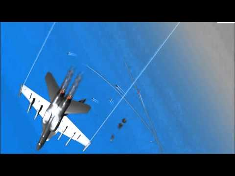 YSFlight Test Version 20130416 - Su-47 vs F/A-18