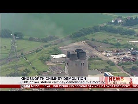 656ft Kingsnorth Power Station Chimney demolished - Charlie Rose