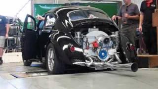 Rod Richardson Black Chopped VW Beetle on Dyno - 2276cc