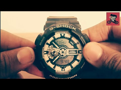 How To Adjust Time In G-Shock Analog .....!! $