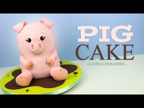 How to Make a 3D Pig Cake - Laura Loukaides