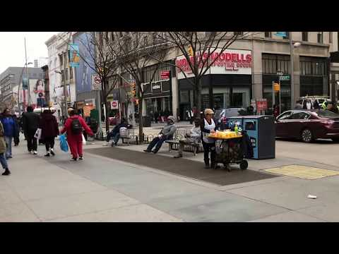walking down Fulton Mall, Brooklyn, New York (3-1-18)