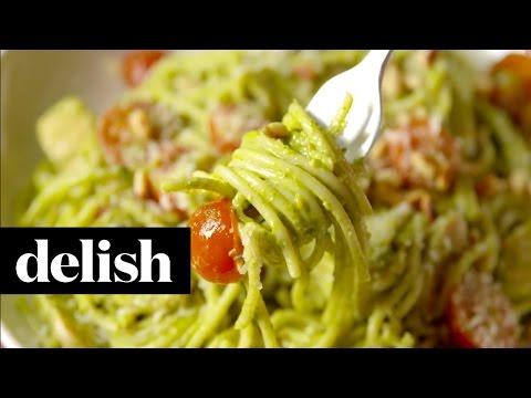 How To Make Creamy Pesto Spaghetti | Delish