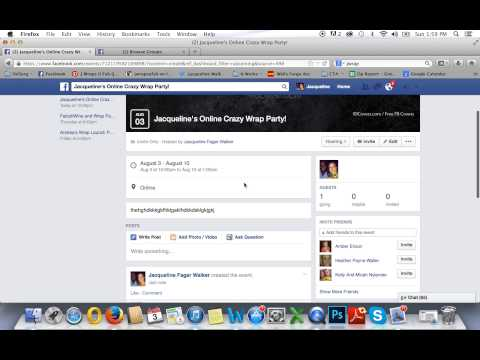 How to create and event/group on Facebook