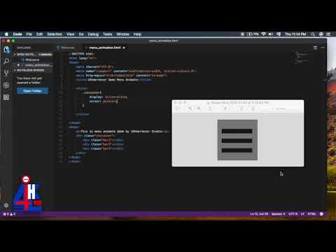 How to create Menu Animate in HTML CSS and Javascript with easy step  iKhmer4ever