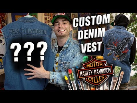 HOW TO KANYE WEST A THRIFTED VEST! Custom Tutorial