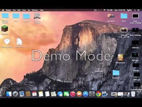 How to make dark menu bar and dock on Mac