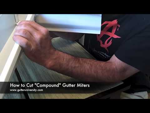 How to Cut a Compound Gutter Miter