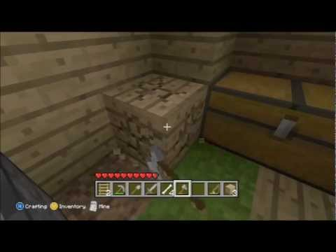 Minecraft for Xbox 360 Part 6 - Trapping chickens, Sugar farming