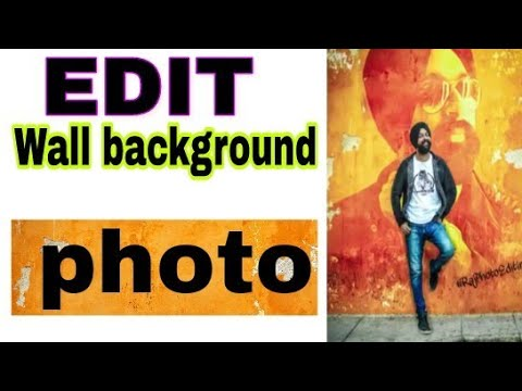 How to edit wall photo background in picsArt