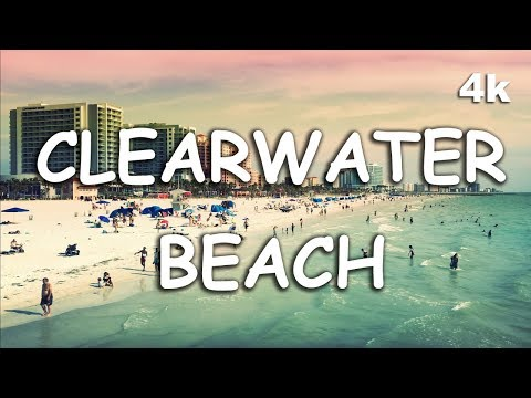 Best Beach In The USA - Beautiful Clearwater Beach Florida Pier 60 4K UHD