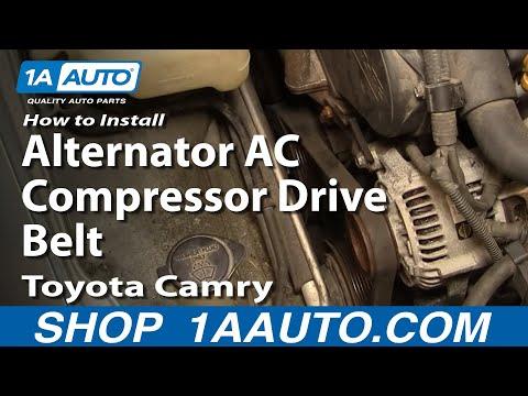 How To Install Replace Alternator AC Compressor Drive Belt Toyota Camry 3.0L 92-96 - 1AAuto.com
