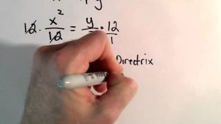 Conic Sections Parabola Sketch Graph By Finding Focus Directrix Points