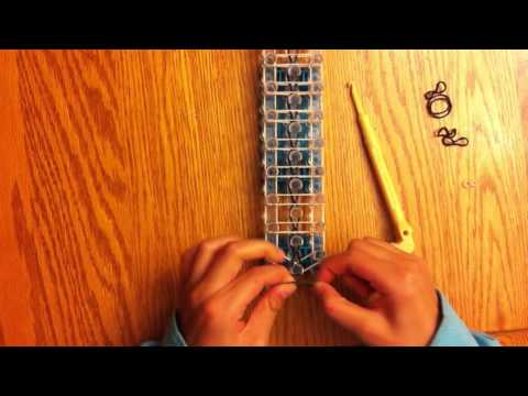 How to make a rainbow loom ladder bracelet w/ rubber bands