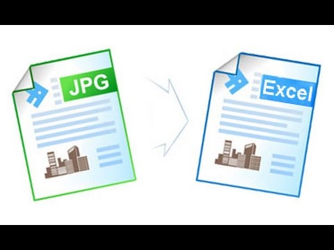 How to convert JPG content File to Excel File