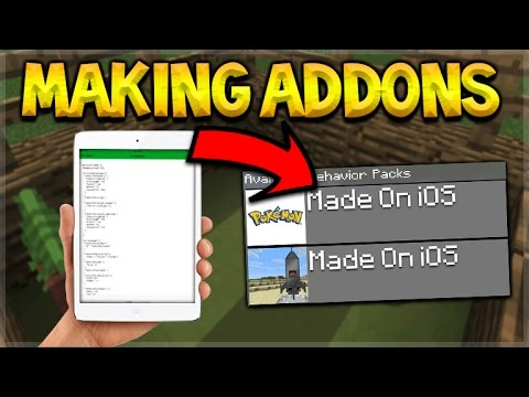 HOW TO MAKE ADDONS! Minecraft Pocket Edition - Making Addons Without PC/jailbreak On iOS iPhone iPad