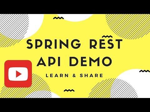 SPRING REST API APPLICATION DEMO