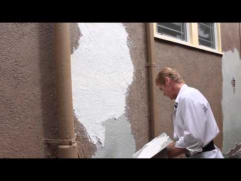 Remove Loose peeling stucco peeling finish