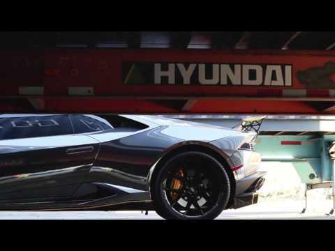 DMC Lamborghini Huracan - Full Wrap in Black Chrome w/ Dark Yellow