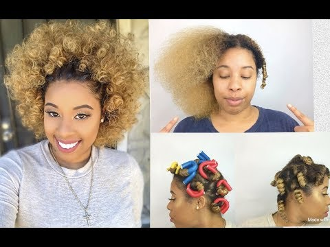 New Color Chat/Stretching/styling my Natural hair