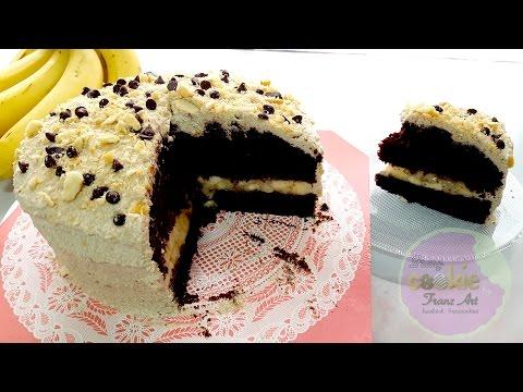 How to make Chocolate Cream Banana Cake step by step
