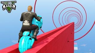 GTA V Online: ESCORREGADOR de MOTO TRON!!! ÉPICO #267