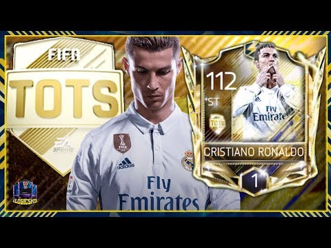 UTOTS 97 RONALDO IN A PACK | FIFA MOBILE 18 UTOTS RONALDO UNLOCKED RANK UP GAMEPLAY & REVIEW!!