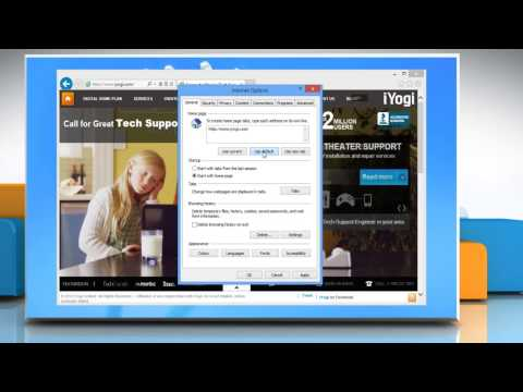 How to change Home Page of Internet Explorer® 10