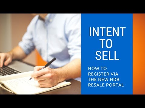 How to register Intent to Sell for Resale HDB