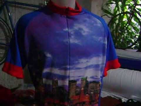 Chicago Illinois Bike Jersey, Chcicago at night shirt Bikingthings