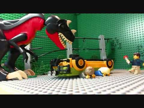 Lego Jurassic Park T Rex Attack
