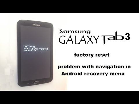 Samsung GALAXY Tab 3 7.0 - Screen Lock, Unlock Password, Factory Reset, Hard Reset