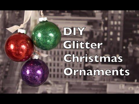Christmas Ornament DIY   How To Make Christmas Ornaments At Home   2014 Christmas Tutorial