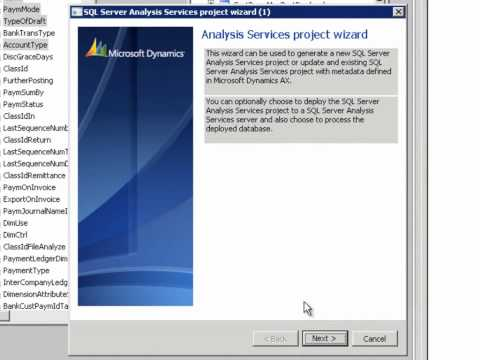 How to create a cube in Microsoft Dynamics AX 2012