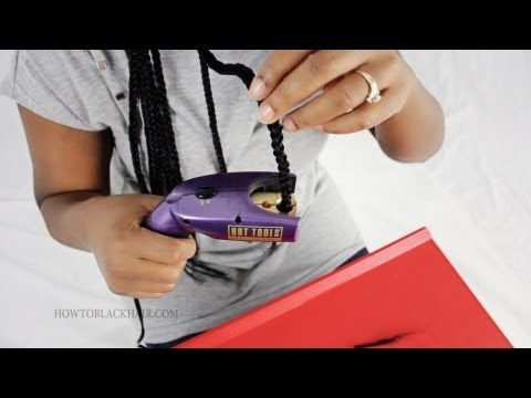 How To Seal The Ends Of Your Box Braids Tutorial Poetic Justice Hairstyle Part 5