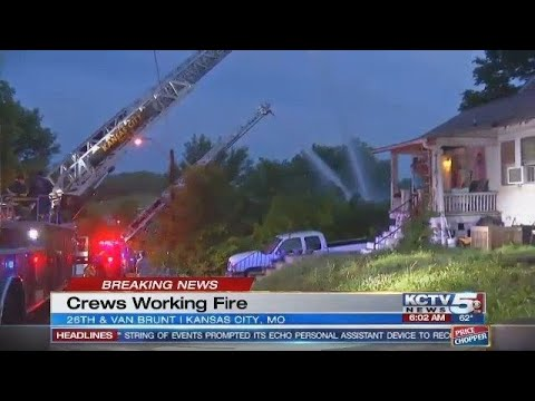 Early-morning flames consume east Kansas City home