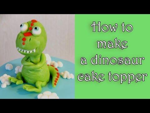 How to make a fondant dinosaur cake topper tutorial / Jak zrobić figurkę dinosaura z masy cukrowej