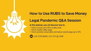 How to Use RUBS to Save Money   Legal Pandemic Q&A Session