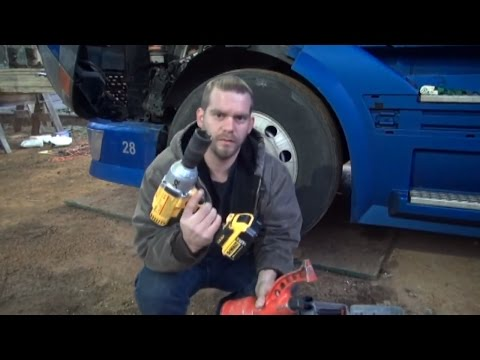 Changing semi truck tire with Dewalt DCF899 and torque multiplier ( How long does it take?)