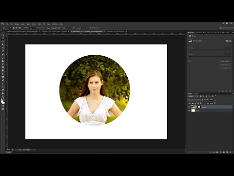 How to Crop a Photo in a Circle Shape using Photoshop CC