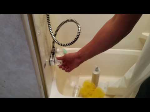 Shower faucet installation for RVs or campers