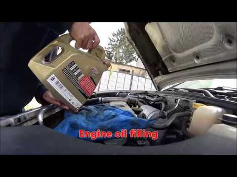 How to change the engine oil, Vectra C Y20DTH