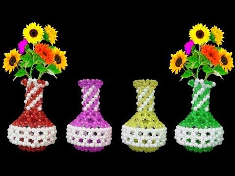 How To Make Flower Vase || Beaded Flower Vase || Flower Pot || Diy Handmade Crafts Ideas