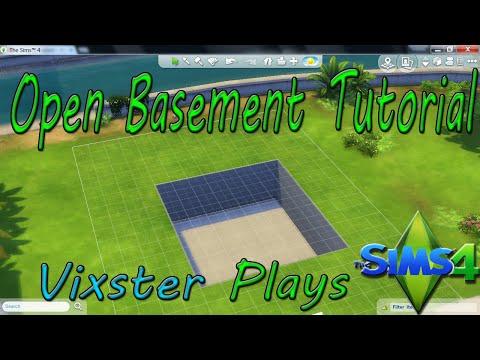 The Sims 4 Building - Open Basement Tutorial