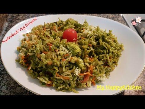 Hyderabadi Veg Briyani Recipe | Green  हैदराबादी बिरयानी  | Quick & Easy Recipe...