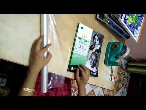 How to cover books / notebooks neatly | DIY Idea for student |